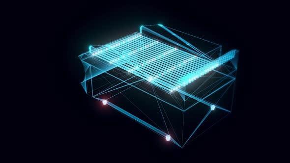 Charcoal Hologram Rotating Hd