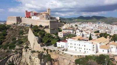 Aerial View Ibiza Town Castell De Eivissa