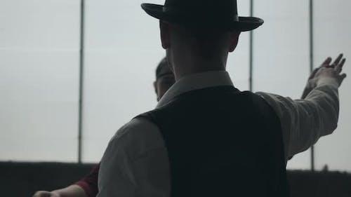 Portrait Man in Fedora Hat