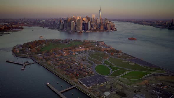 Thumbnail for Manhattan New York City Skyscrapers Cityscape Buildings View Background
