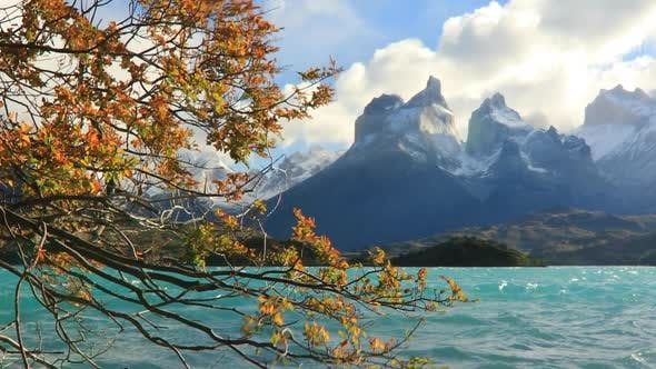 Lake Pehoe at Dawn Torres Del Paine Chile