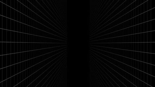 Digitally generated video of concentric lines