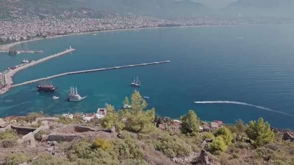Thumbnail for Alanya Town View From Alanya Castle in Turkey