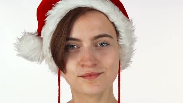 Thumbnail for Young Attractive Christmas Girl Looking Shocked or Surprised