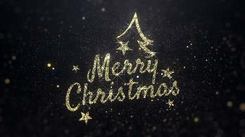 Merry Christmas Wishes Gold Background