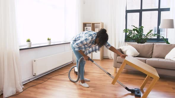 Thumbnail for Woman or Housewife with Vacuum Cleaner at Home 47