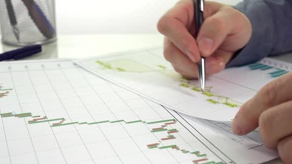Thumbnail for Businessman Analyzes Report