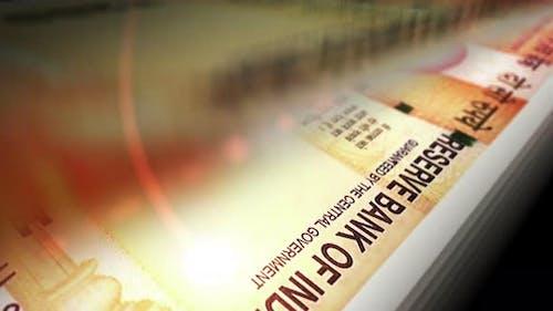 Indian rupee money banknote surface loop