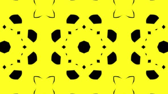 Abstract yellow geometric