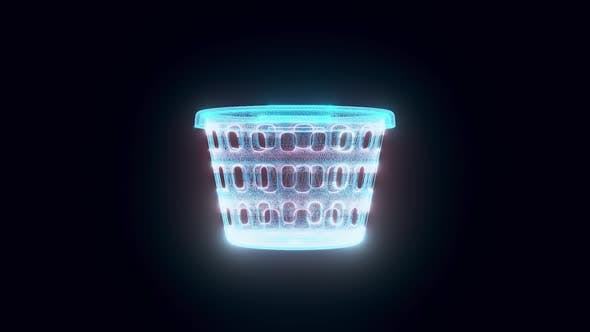 Laundry Basket Hologram Hd