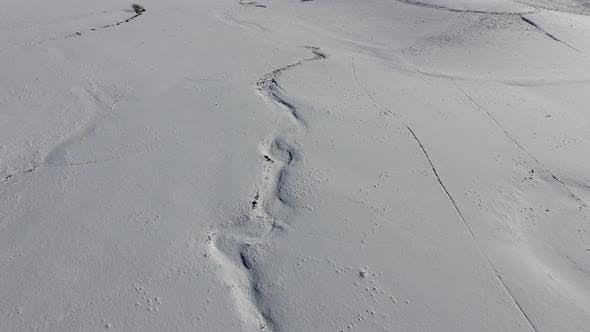Thumbnail for The Stream on Plateau is Covered With High and Thick Snow