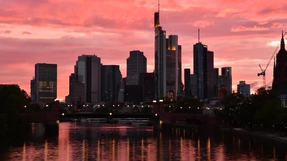 Thumbnail for Sunset Sky Over Frankfurt