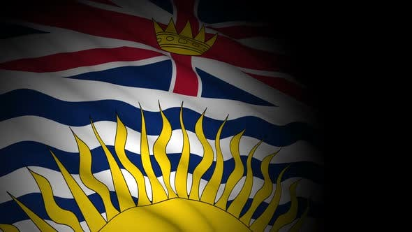 Thumbnail for British Columbia Flag Blowing in Wind