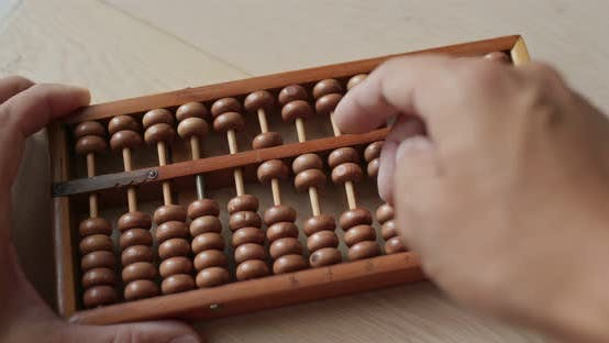 Use of abacus for the calculation
