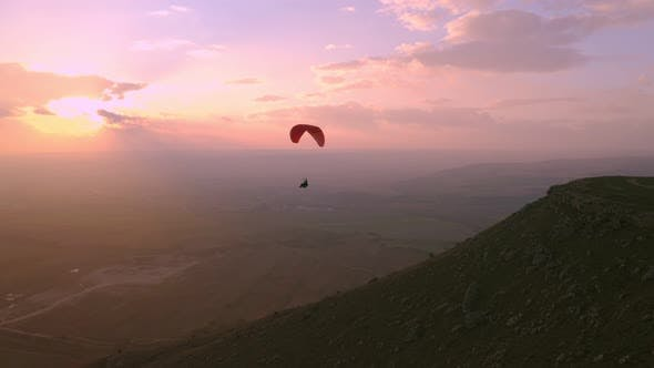 Thumbnail for Paragliding in Sunset Cinematic Epic Extreme Sport