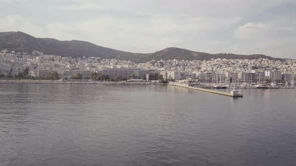 Thumbnail for Seagulls Flying Above Calm Sea Surface in Kavala, Greece