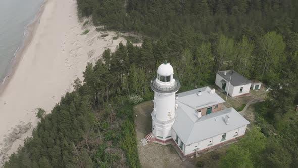 Thumbnail for Coastal Lighthouse During Summer Day. Baltic Coast, Latvia, Uzava