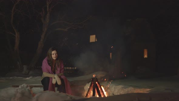 Thumbnail for Sad girl sits alone.