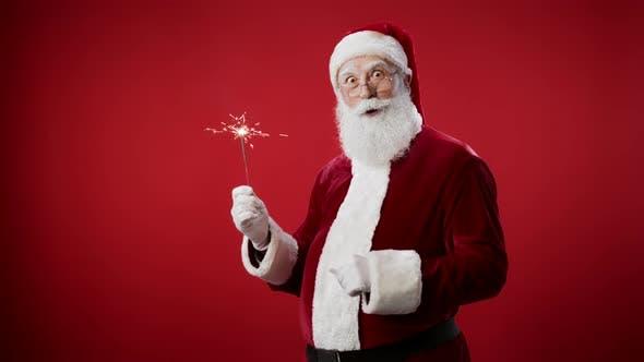 Thumbnail for Santa Claus with Sparkler