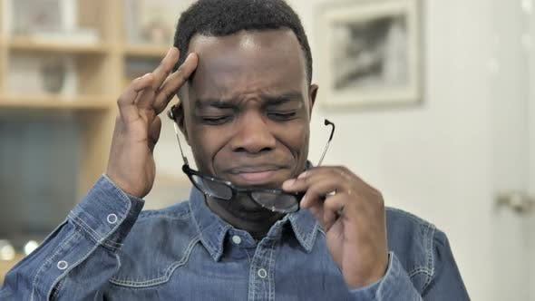 Thumbnail for Headache, Stressed Afro-American Man