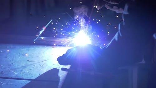 Welding In A Workshop