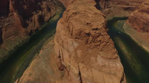 Aerial view of Grand Canyon Horseshoe Bend and Colorado River Arizona, United States