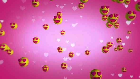 Love Emoji Bg Hd
