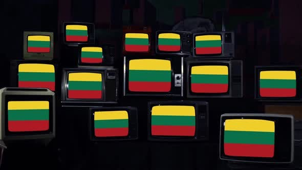 Thumbnail for Lithuanian Flags and Vintage Televisions.
