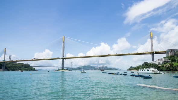 Cover Image for Ting Kau bridge in Hong Kong