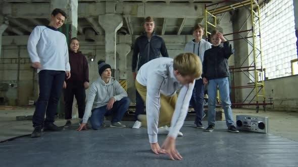 Thumbnail for Boy Doing Breakdance Moves