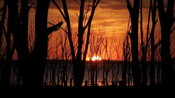 Thumbnail for Sunset Over Lake Epecuen (Argentina).