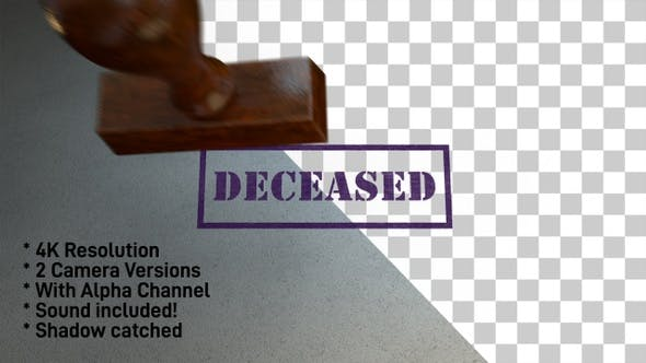 Cover Image for Deceased Stamp 4K - 2 Pack