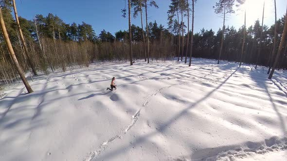 Running in the Winter Forest