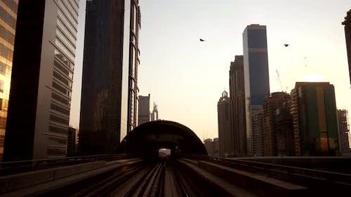 Car Traffic Road in Futuristic Urban Metropolis Cityscape