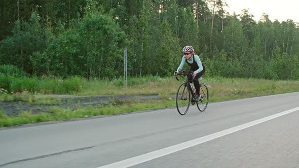 Thumbnail for Woman Training for Bicycle Race