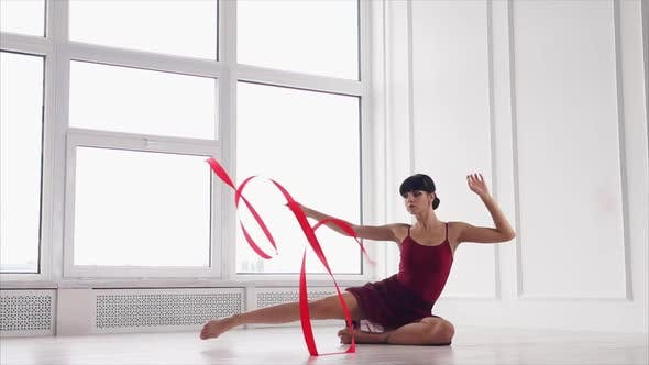 Graceful Dance with Ribbon