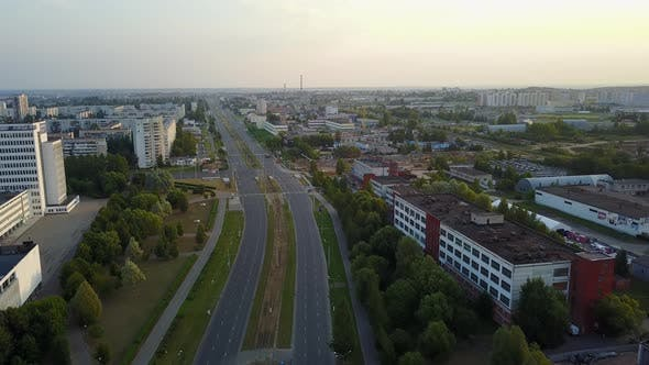 Crossroad Of Tereshkova Street And Victory Avenue. City Vitebsk