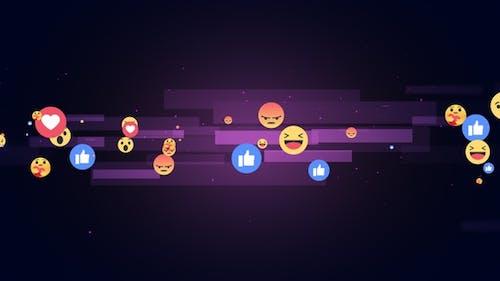 Facebook Reaction Emoji Background V5