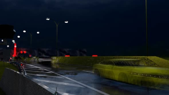 Thumbnail for Vehicle Traffic Through Tunnel at Night