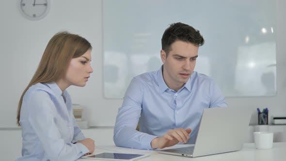 Shocked Business People Wondering in Awe at Work