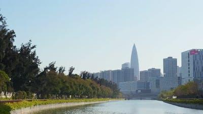 Business district in Shenzhen