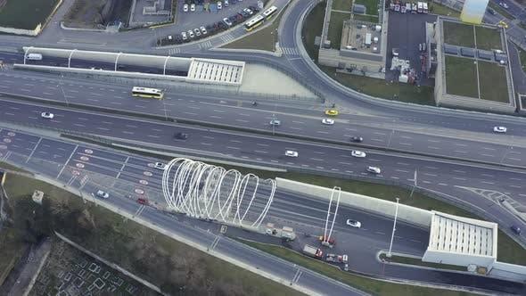 Thumbnail for Istanbul Yavuz Sultan Selim Bridge Entrance Aerial View 2