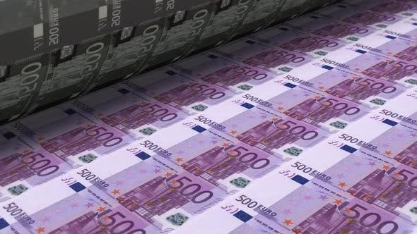 Thumbnail for Gelddruck Euro-Banknoten