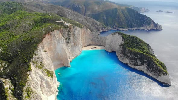 Thumbnail for Top View Navagio Bay Shipwreck Beach Greece, Zakynthos