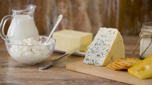 Thumbnail for Cottage Cheese, Crackers, Milk, Yogurt and Butter