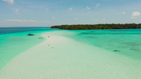 Thumbnail for Sandy Beach in the Lagoon with Turquoise Water