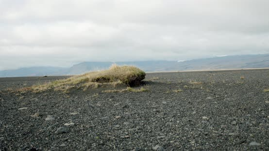 Thumbnail for Iceland Landscape, Black Stones on a Background of Mountains Travel, Adventure,future Concept. V2