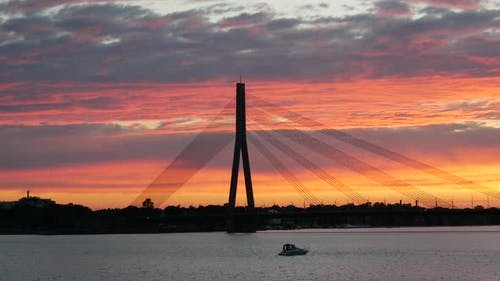 Sunset time lapse from Vanšu Bridge