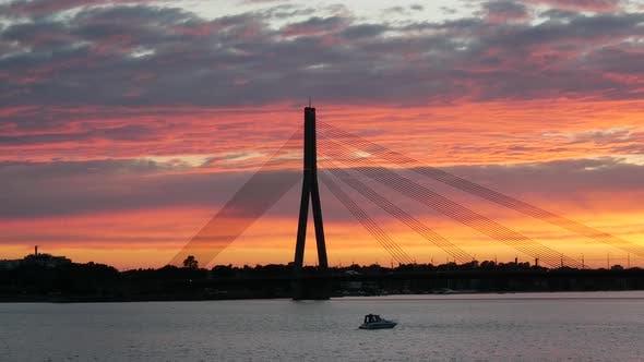 Thumbnail for Sunset time lapse from Vanšu Bridge