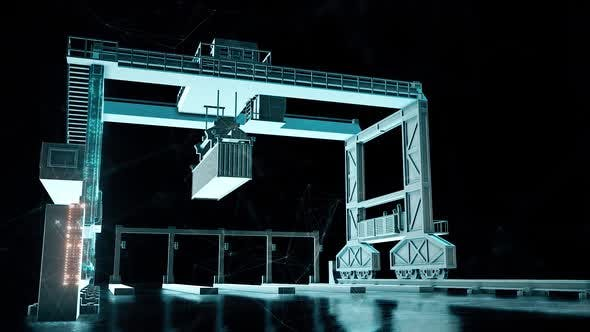 Thumbnail for Heavy Cargo Container Crane Hd